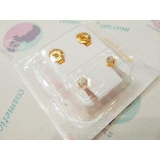Сережки M, крапан золотий, камінь хамелеон, Studex