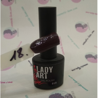 Гель лак для ногтей № 018  7мл. Lady Art