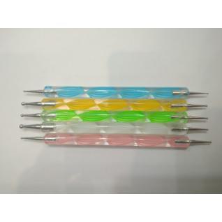 """Дотс - інструмент для дизайну на нігтях, пластиковий """"спіраль"""""""