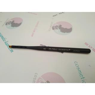 Global Кисть для геля скошенная №4 черная ручка