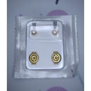 Серьги M, завальцов золотой, камень александрит, R206Y Studex
