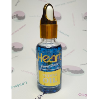 Heart, масло для кутикули, 30мл Vanilla (Синє) з квітами