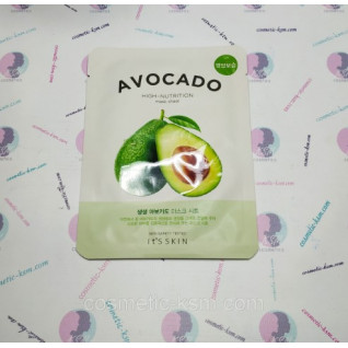 It's The Skin Fresh Mask Sheet Avocado 18г заспокійлива Маска тканинна