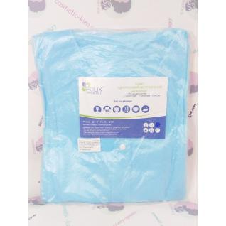 Халат одноразовий STANDART блакитний/blue Polix PRO&MED™ L/XL(1 шт/пач) зі спанбонд 25 г/м2