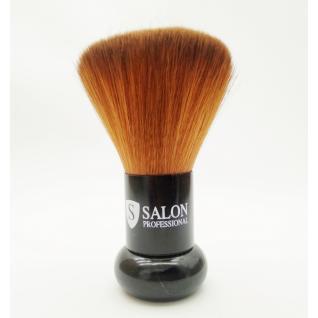 Сметка для волос Salon Professional, натуральный ворс круглая, черная ручка
