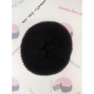 Валик (бублик) круглый10см великий чорний для волосся