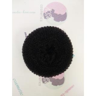 Валик (бублик) круглий 8см середній чорний для волосся