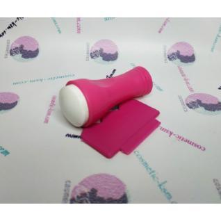 Штамп рожевий корпус з силіконовою подушкою