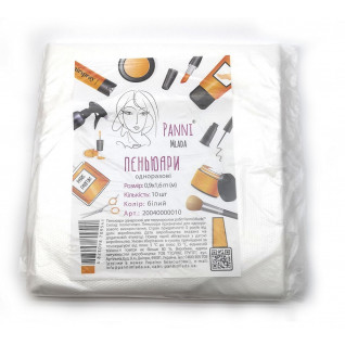 Пеньюар Panni Mlada 0,9х1,6 м (10 шт/пач)  з поліетилену цвет: белый