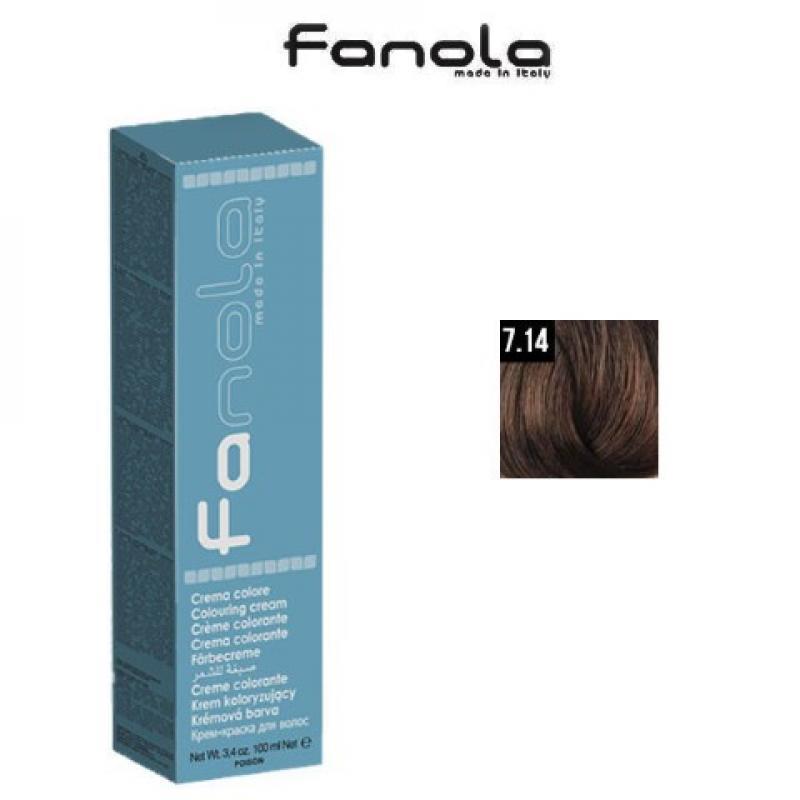 Fanola Фарба для волосся № 7.14 Tobacco