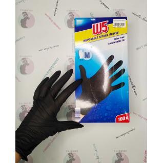 Перчатки нитриловые М размер